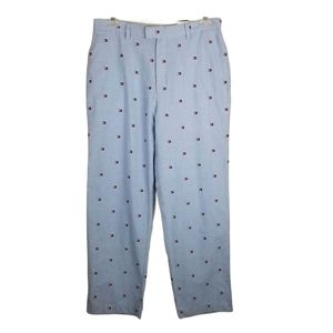 Tommy Hilfiger 34/32 Mens Blue Logo Trousers NWT